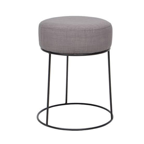 Round Pouffe with Hairpin Base