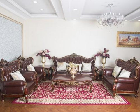 Royal 7 Seater Leather sofa + Centre Table set