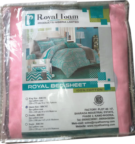 Royal Bed Sheet 100% Cotton
