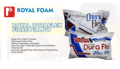 Royal Duraflex Fibre Pillow - 800Grms-Plain