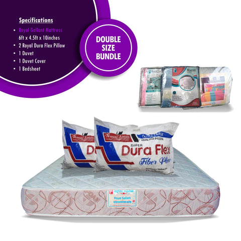 Royal Foam Double Size Mattress Bundle Offer