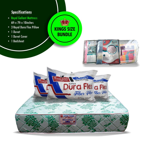 Royal Foam King Size Mattress Bundle Offer