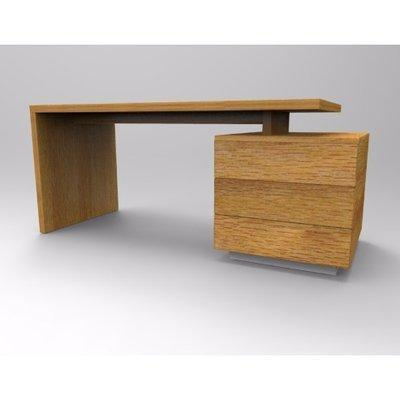 Ruby Series Office Table -Golden-Brown