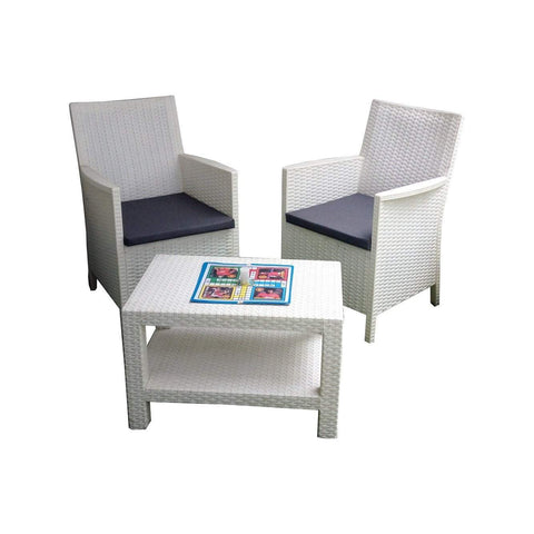 Santorini Armchair Set-White