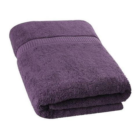Single Cotton Bath Towel Purple