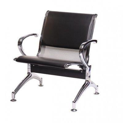 Single Seater Reception Bench - Partly Cushioned