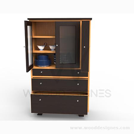 Slyvié series Shelf (Golden-brown and Dark-brown)
