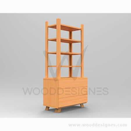 Solangé series Shelf (Golden-brown)