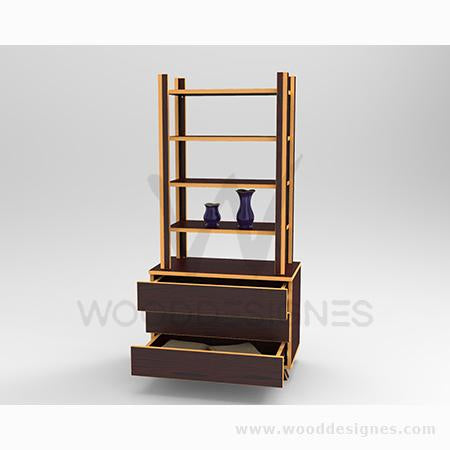 Solangé series Shelf (Red-brown and GBT)
