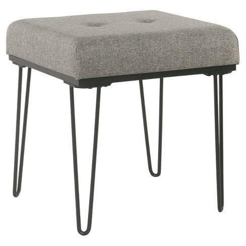 Square Pouffe with Hairpin Base