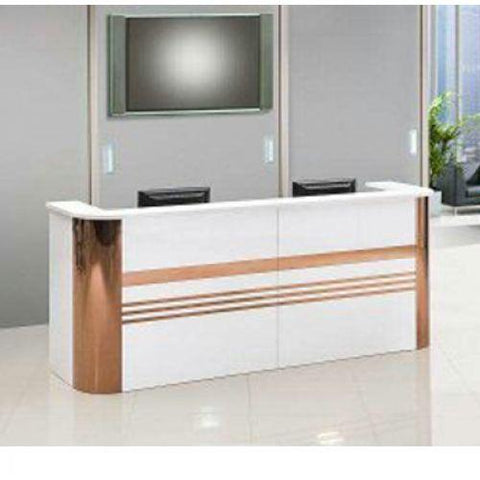 Stripe Reception Office Table 1.6mtr