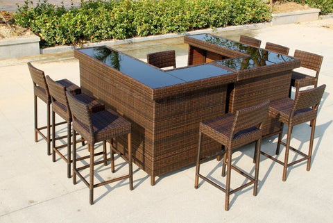 Stylish Rattan Outdoor Bar Counter