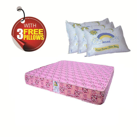 Super Flora-757214 Mouka Mattress- L 6ft x W 6ft x H 14""