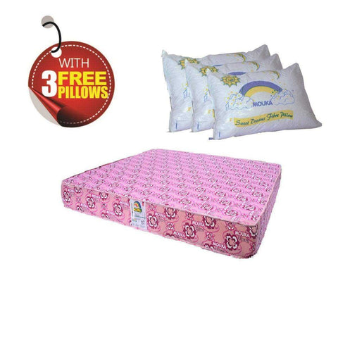 Super Flora-75728 Mouka Mattress- L 6ft x W 6ft x H 8""