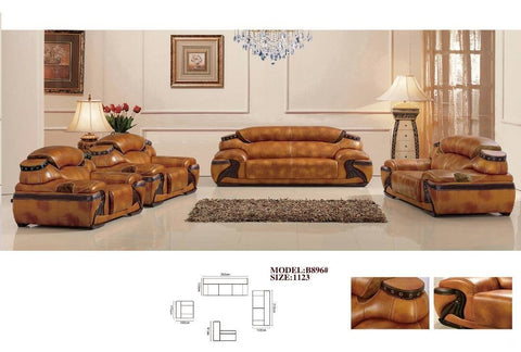 Tiziano Leather Sofa Set-B896