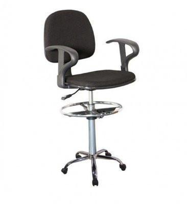 Toll free Drafting Stool - Black - Em-SE01