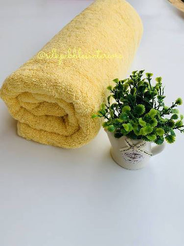 Towel (100% Turkish cotton) Yellow