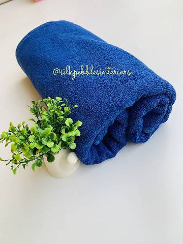Towel (100% Turkish towel) Blue