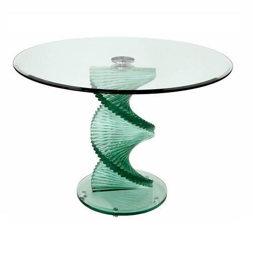 Twisted Glass 6 Seater Dining Table