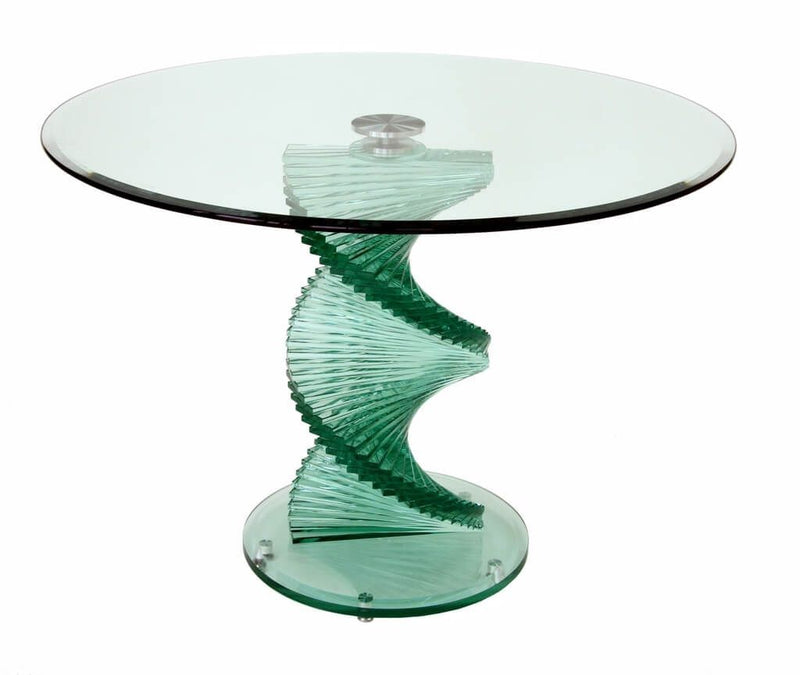Twisted Glass Dining Table