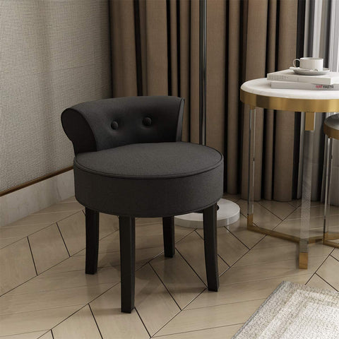 Vanity Chair Wood Legs (Brown)