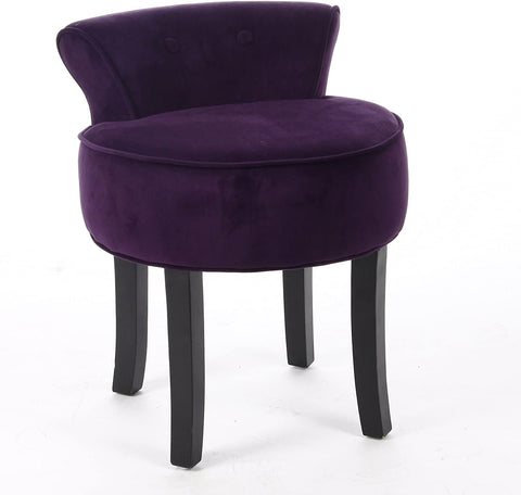 Vanity Chair Wood Legs (Purple)