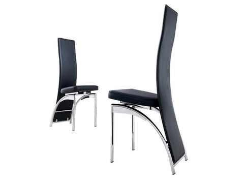 Vido - Single Dining Chairs Steel - Black