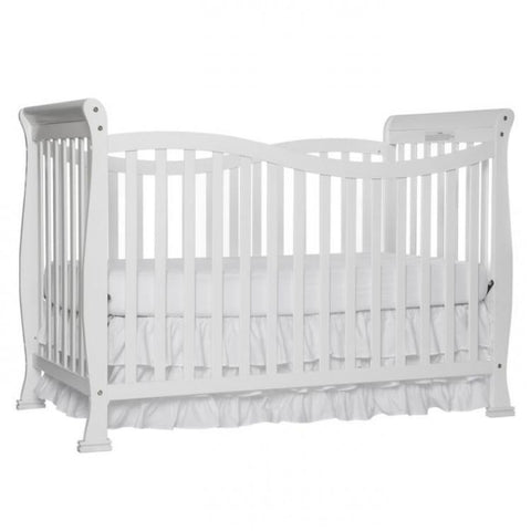 Violet 7 in 1 White Convertible Crib with Free Mattress and Pillow