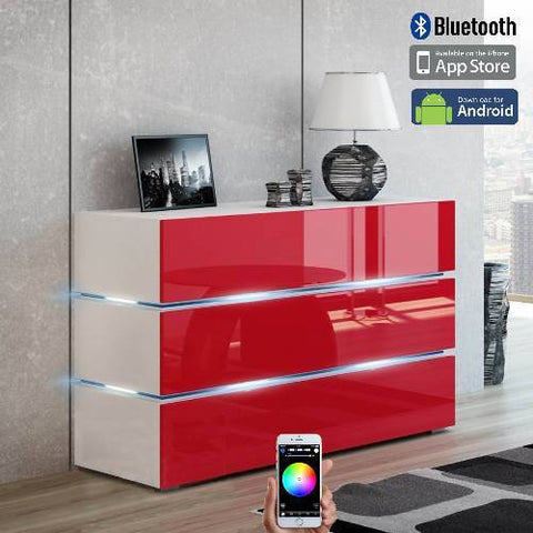 Vision Smart Control LED Credenza(red)