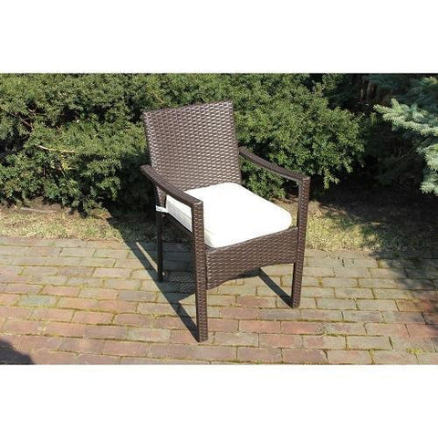 Vriendenn 1 PC Baker Outdoor All Weather Wicker Rattan Chair