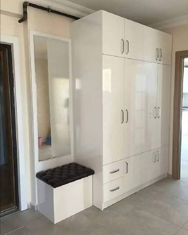 Wardrobe and dressing mirror