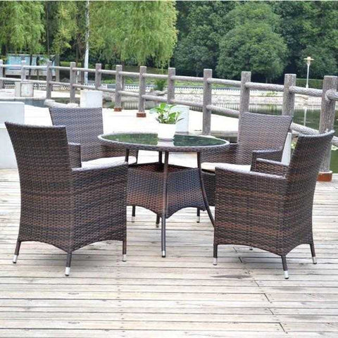 Weedoo 5 Unit Garden Rattan Furniture Set