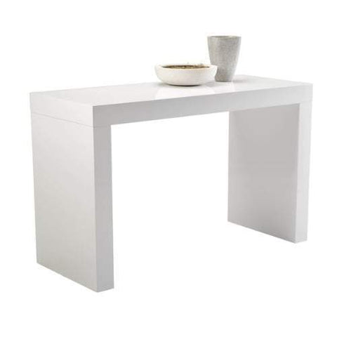 White N-Shape Counter Table