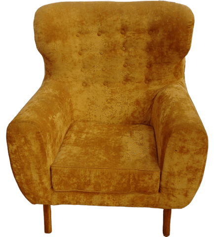 Windhoek Wing-back Armchair - Yellow