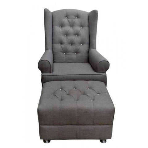 Wing Back Rocking Chair and Ottoman