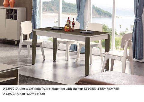 Wood Dining Table + 4 chairs-ET19551