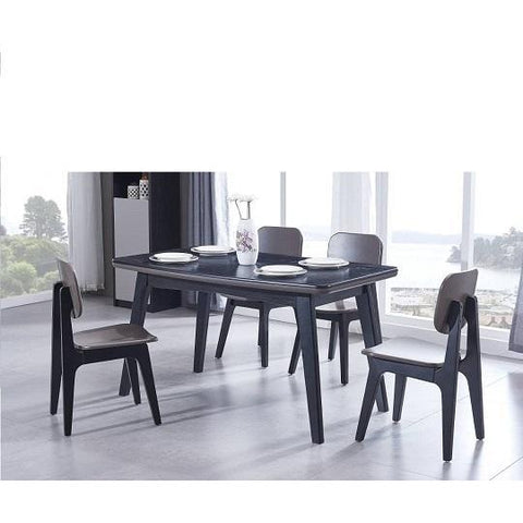 Wood Dining Table + 4 chairs-XT3955