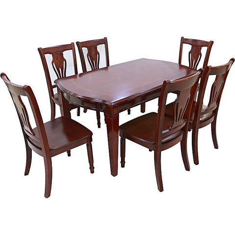 Wood Dining Table & 6 Chairs - Model BF240-1 & BP501