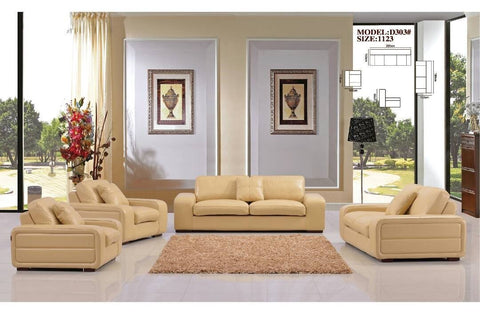 Zuchini Leather Sofa Set- D303