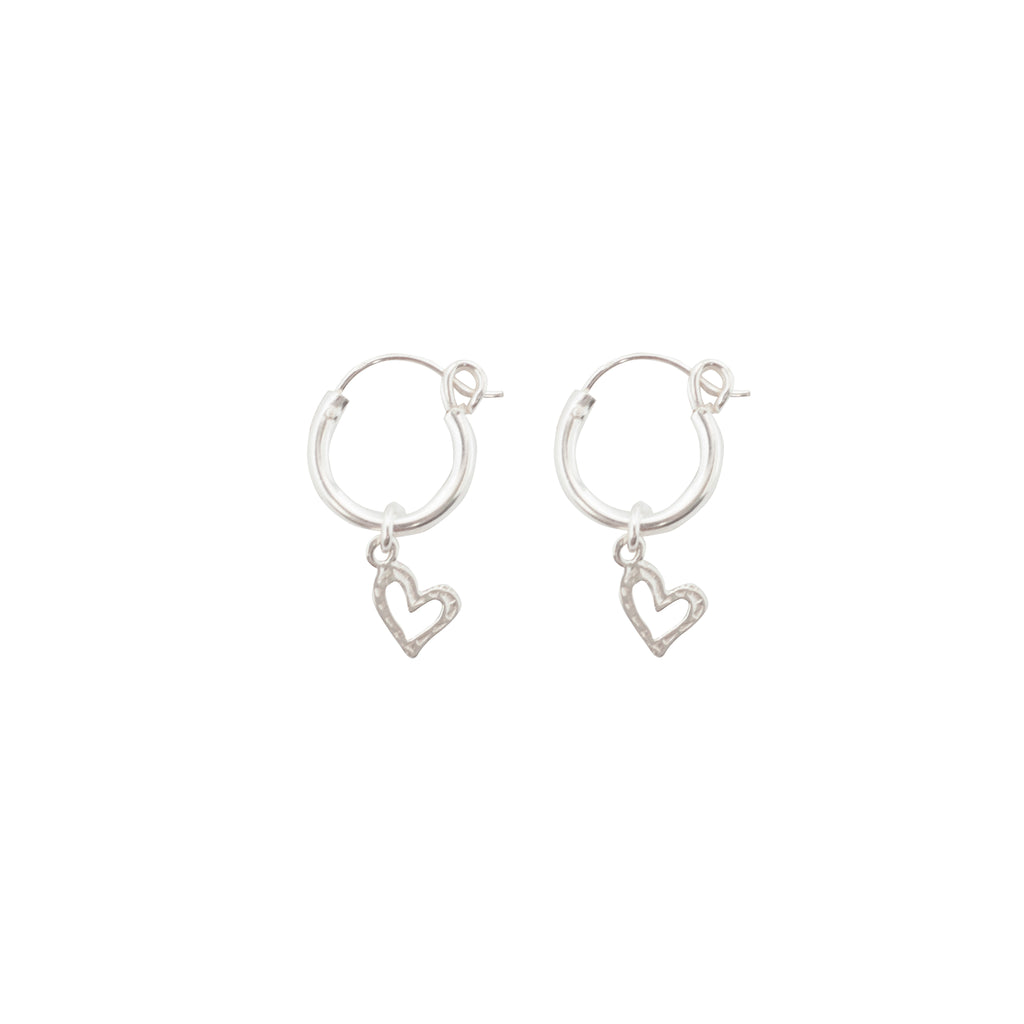 Little Open Heart Earring Silver
