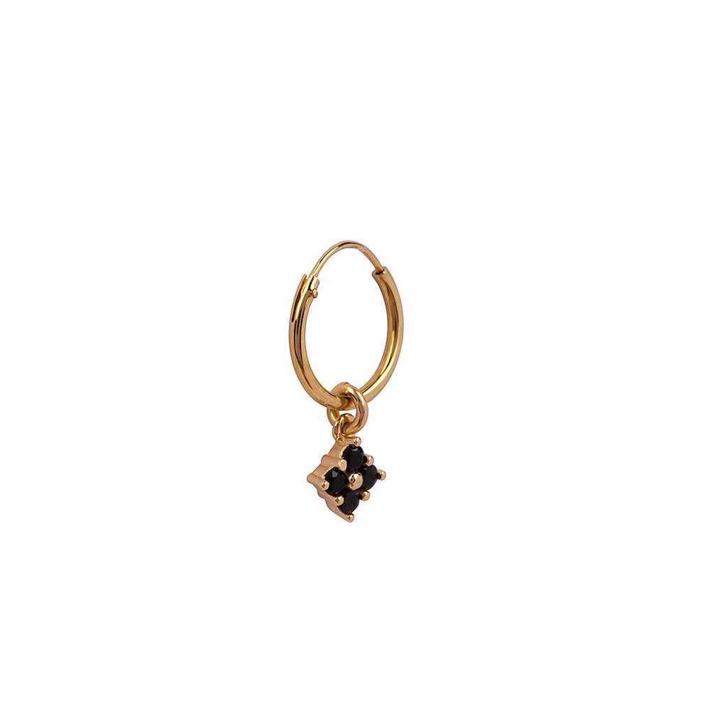 Black Swarovski Flower