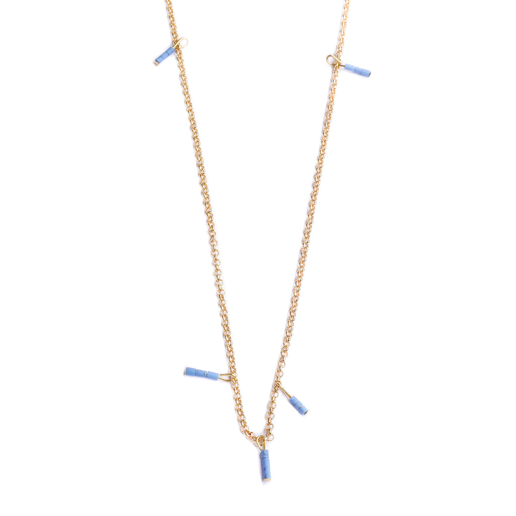 product pale blue heishi necklace loela