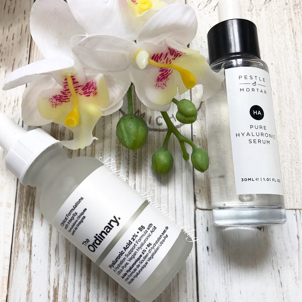 Guest Post - Pestle & Mortor Hyaluronic Acid Vs The Ordinary Skincare Hyaluronic Acid - By Shapes & Shadows Blog