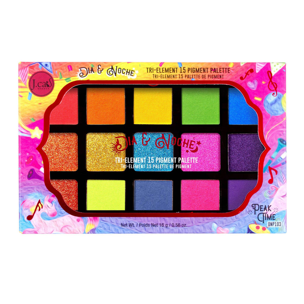 J. Cat Beauty Dia&Noche Tri-Element 15 Pigment Palette