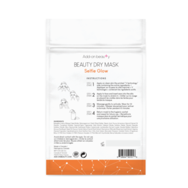 Add On Beauty Selfie Glow Dry Mask