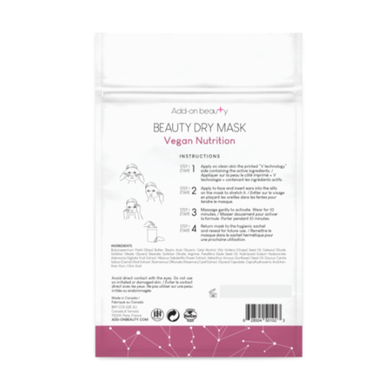 Add On Beauty Vegan Nutrition Dry Mask