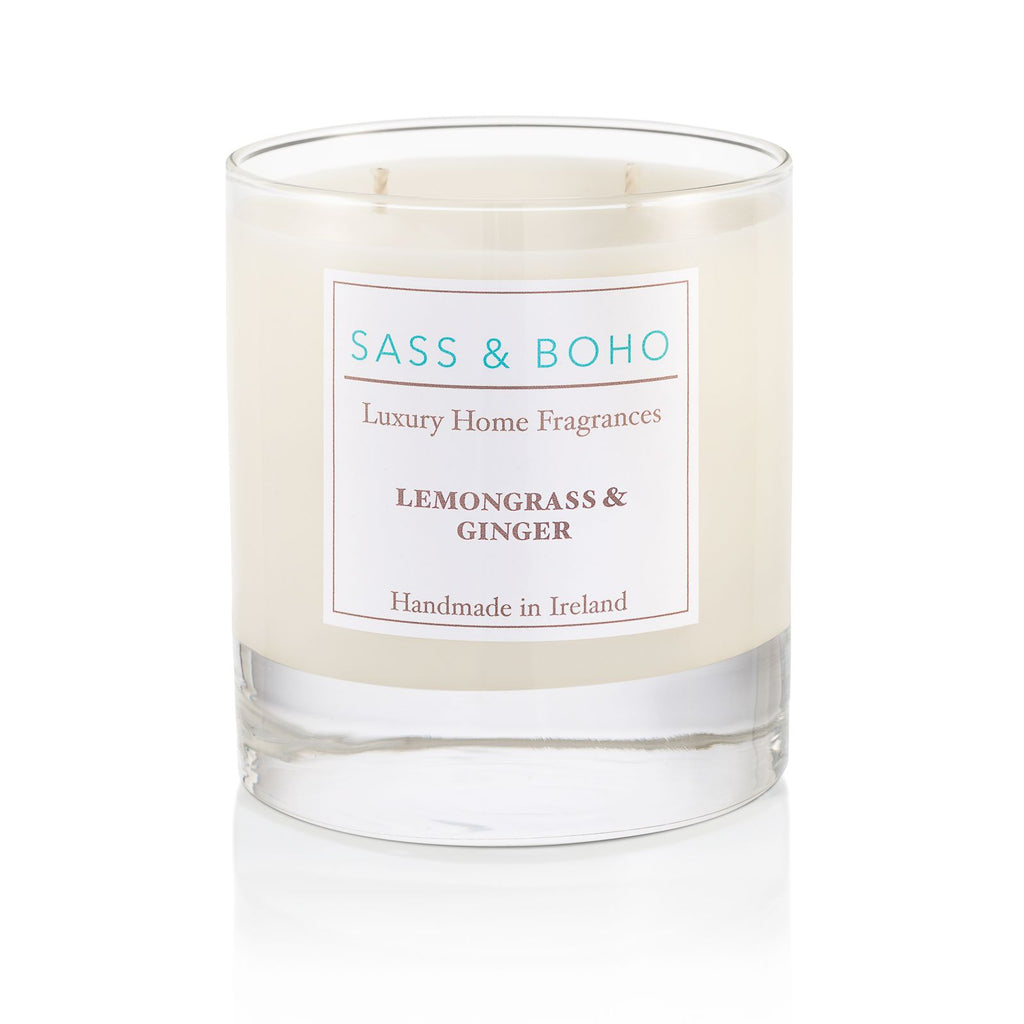 Sass & Boho Lemongrass & Ginger Double Wick Candle