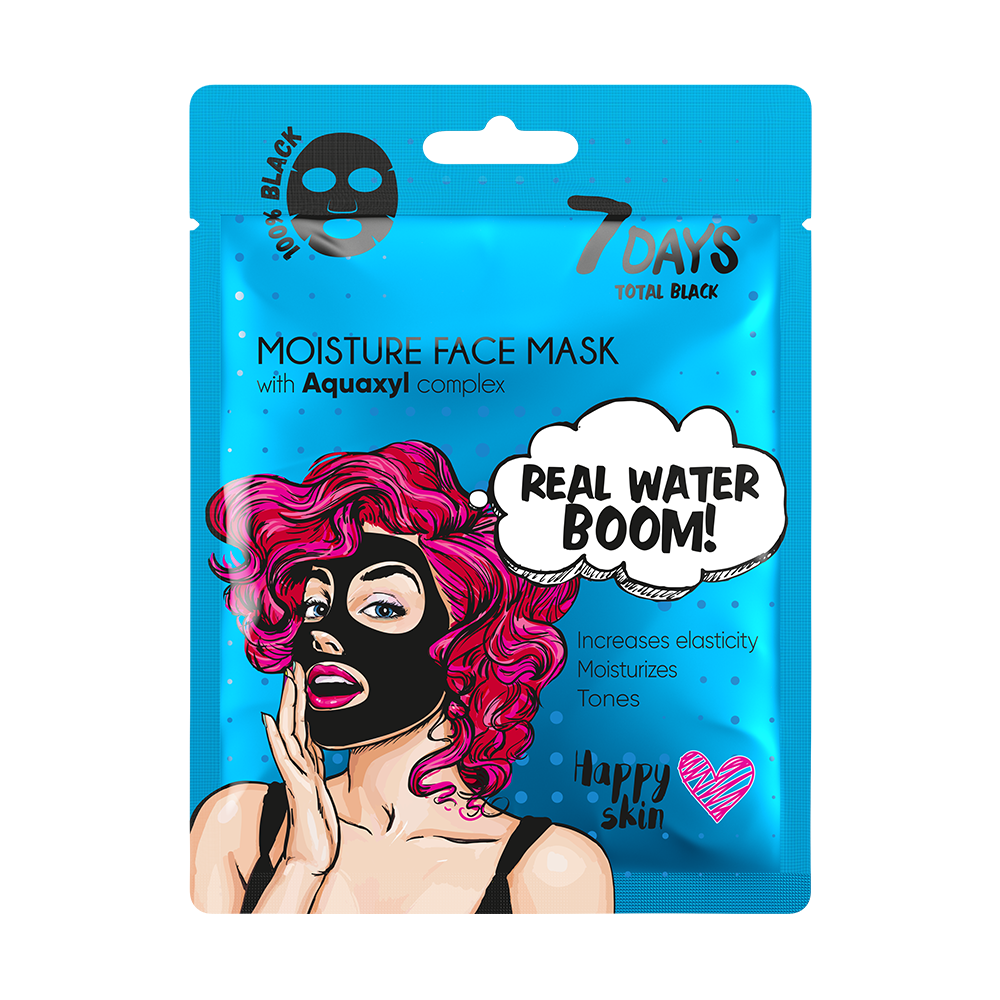 7DAYS Total Black Face Mask Moisture Face Mask