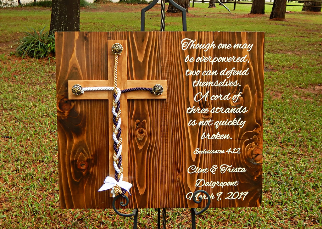 Unity Braids Wood Cross