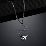 Pendant airplane - Necklace
